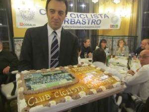 Tarta de Club Ciclista Barbastro. JLP.