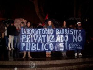 Manifestación en Monzón. JLP.