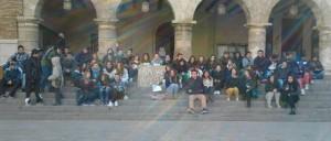 Concentración ante el Ayuntamiento de Monzón.