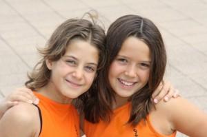 Ana y Alba, en el Campeonato de España de Sincronizada.