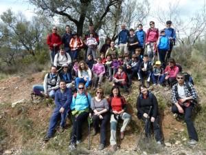 Foto de familia de los participantes en la excursión. MAB.