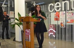Irene Abad recibió en marzo el premio de las mujeres progresistas Clara Campoamor de Monzón por su compromiso con la igualdad de género. JLP.
