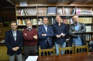 Los jurados con Sánchez y Cosculluela. JLP.