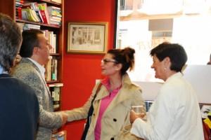 Manuel Vilas, Estela Puyuelo y Pilar Claver.