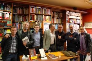 Los autores junto a Luis Sánchez y Beni Ibor.
