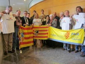 Miembros del PAR del Aragón oriental.