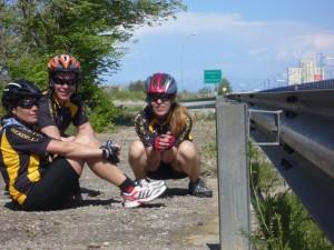 Ciclistas de Estadilla.