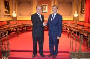 Los alcaldes de Saint Gaudens y Barbastro. JLP.
