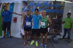 Los tres primeros clasificados. José Luis Pano.