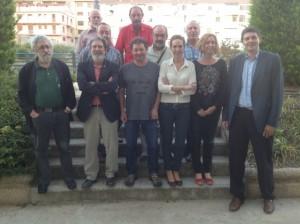 IU Barbastro con representantes regionales y provinciales. JLP.