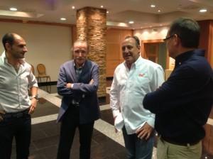 Fermín Cacho con Torres, Facerías y Román. JLP.