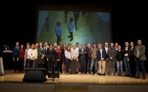Participantes, organizadores y colaboradores del Congreso del Libro Electrónico de Barbastro. JLP.