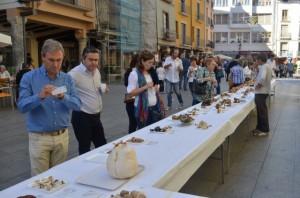 Exhibición de setas en la plaza del Mercado. JLP.