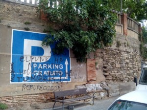CARTEL INDICATIVO ACCESO PARKING