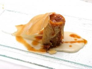 Canelon crujiente de rabo de buey - Restaurante Trasiego - Barbastro