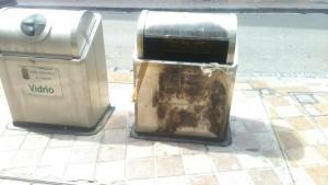mal estado de los contenedores soterrados de La Tallada