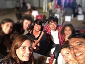 Dani y sus amigos con Marc Ros de Sidone (Foto: Dani)